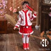 拜年服寶寶女童漢服兒童過年衣服旗袍中國風唐裝加厚新年冬裝【Kacey Devlin】