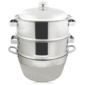 304不銹鋼蒸籠組湯鍋45cm二入蒸盤