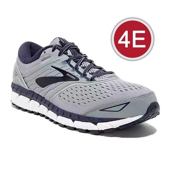 樂買網 BROOKS 18FW 支撐型 男慢跑鞋 BEAST 18系列 4E超寬楦 1102824E015 贈腿套