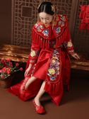 秋冬加絨中式婚鞋紅色平底新娘鞋秀禾服鞋繡花鞋刺繡婚鞋結婚布鞋 衣櫥秘密