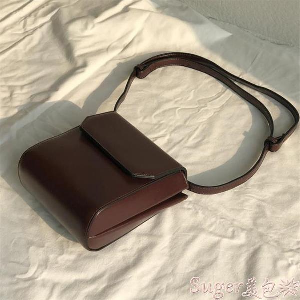 小方包 韓版小眾設計包女新款復古小方包網紅小黑包簡約側背斜背包潮 suger