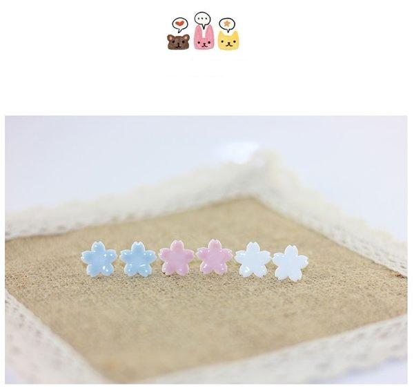 Star 陶藝系列 時尚花花 陶瓷耳釘 -D2527