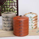 紫砂可疊放普洱茶餅罐粗陶老岩泥仿古白茶葉罐青瓷大號陶瓷茶葉罐─預購CH1193不含蓋子