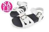 女童涼鞋 台灣製 質感素色簍洞 百搭 輕量 兒童涼鞋I6598#白色◆OSOME奧森童鞋  零碼出清