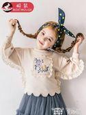 兒童衛衣 船鼠女童衛衣加厚兒童秋裝韓版潮童裝女寶寶加絨洋氣秋冬 童趣屋