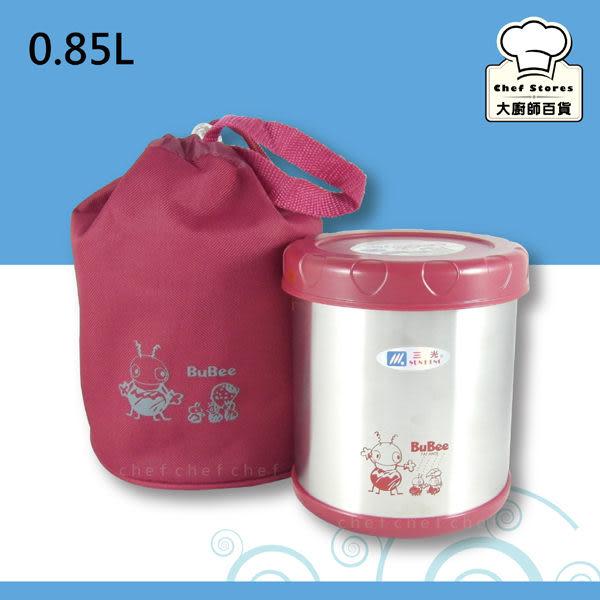 三光牌蘇香不鏽鋼保溫提鍋保溫飯盒0.85L紅色附隔層專用提袋保溫便當盒-大廚師百貨