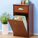 《閱讀歐洲》木製分類垃圾整理櫃(淺胡桃色)