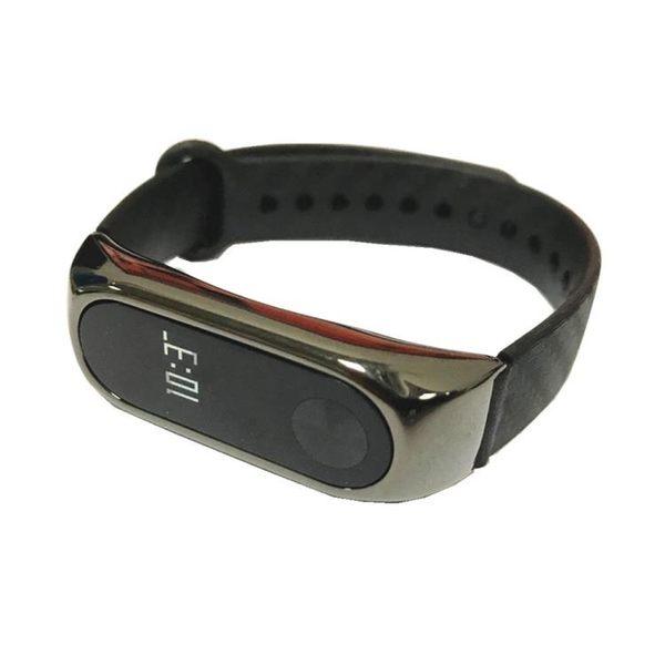 小米手環2金屬腕帶M2手環碳纖維免螺絲金屬殼表帶替換帶 貝芙莉女鞋