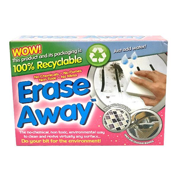 英國進口Erase Away 環保型高科技去污泡棉 2入裝(科技海綿)