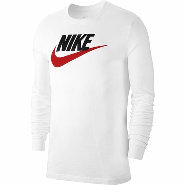 【現貨】Nike Sportswear 男裝 長袖 純棉 經典 大勾 LOGO 印花 白【運動世界】CI6292-102