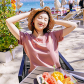 【免運】范奎恩大碼女裝胖MM上衣2019夏裝新款遮肚200斤胖妹妹寬鬆短袖T恤