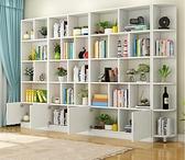 書櫃 書櫃書架落地自由組合書櫥簡約現代兒童儲物櫃置物架轉角收納櫃子 夢藝家