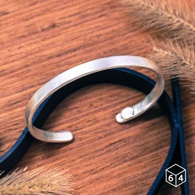 手環/手鐲 品牌C型手環 (霧面-大) 999純銀手環-64DESIGN