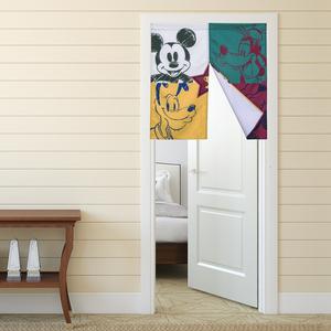 HOLA 迪士尼系列 運動米奇 防潑水短門簾 寬90x高90cm