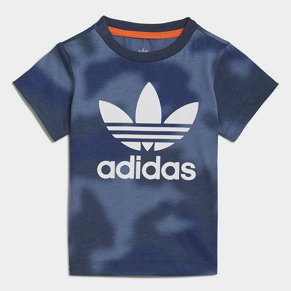 ADIDAS ALLOVER PRINT CAMO TEE 童裝 小童 短袖 休閒 純棉 迷彩渲染 藍【運動世界】GN4116