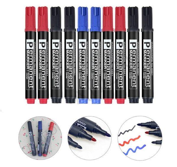 【台灣現貨直接發】新款 記號筆 不掉色馬克筆 油性筆 防水快乾 黑 紅 藍 1支/4元