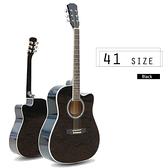 【奇歌】41吋標準民謠木吉他 弦距可調手不痛!鋼琴烤漆,送琴袋+調音器+全配,吉他、民謠吉他