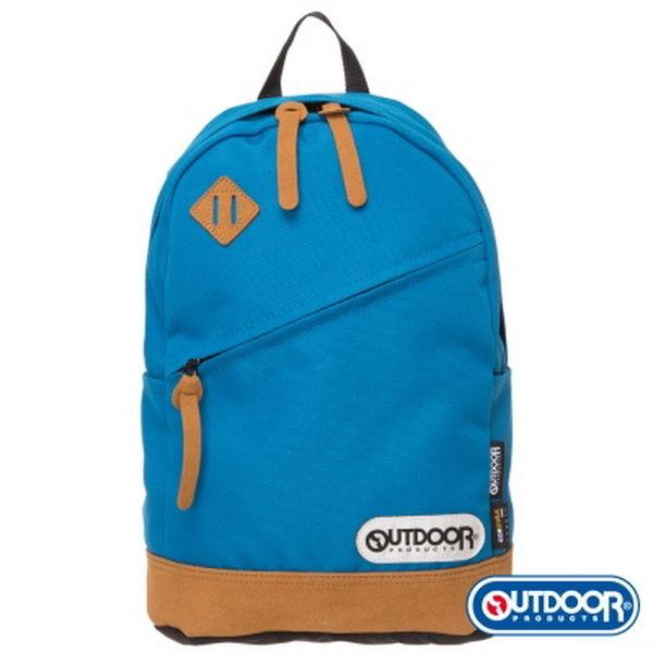 OUTDOOR - 率真年代系列-皮底小後背包-土耳其藍 OD62027TT