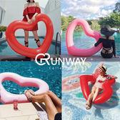 【24H】愛心造型泳圈 120cm 充氣粉色 愛心泳圈 紅色愛心 心形 游泳圈 度假 游泳 水上玩具