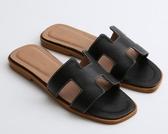 涼拖鞋女夏時尚外穿真皮