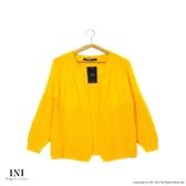 【INI】柔感舒適、好感美型開襟針織外套.橙色