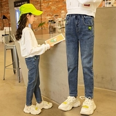 女童牛仔褲2020春秋新款兒童中大童洋氣春季薄款小腳女孩12歲長褲 韓語空間