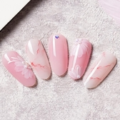 指甲油美甲玉脂膠透粉肌膚色指甲油膠新色果凍紅裸色冰透乳白色15ml