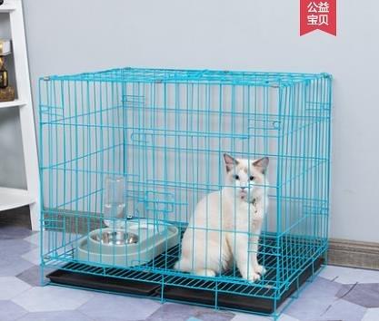 貓籠狗籠子小型犬帶廁所貓舍貓籠家用折疊中型寵物室內貓咪貓窩貓別墅LX熱賣
