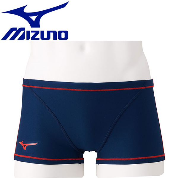 MIZUNO 美津濃 男 EXER SUITS 泳褲 四角 N2MB806086 深藍 [陽光樂活](A7)