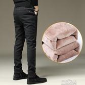 褲子男秋冬季加絨加厚潮流直筒休閒長褲男士外穿保暖寬鬆棉褲冬裝【雙十二狂歡】