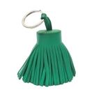 HERMES 愛馬仕 綠色牛皮流蘇鑰匙圈吊飾 Carmen Key Ring Bag Charm 【BRAND OFF】