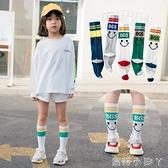 兒童襪子春秋季薄款女童長筒襪夏季純棉高筒襪運動潮襪男童中筒襪 蘿莉新品
