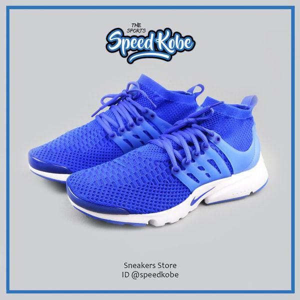 NIKE 魚骨鞋 Presto Flyknit 藍白 高筒 襪套 魚骨 休閒 慢跑 編織 835570-400【SP】