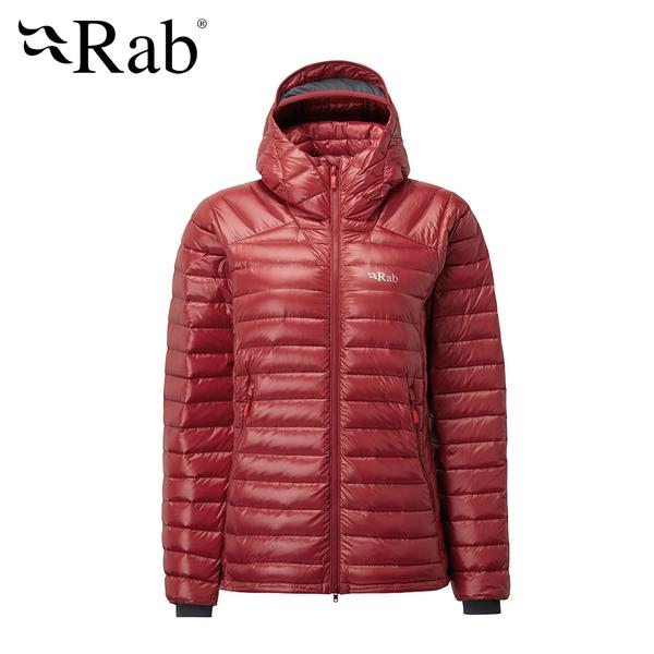 【英國 RAB】 Microlight Summit Jacket 高透氣羽絨連帽外套 女款 赤艷紅 #QDA89