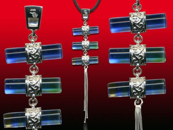 鹿港窯~開運古法水晶琉璃銀飾項鍊~三生緣◆附精美包裝◆免運費送到家