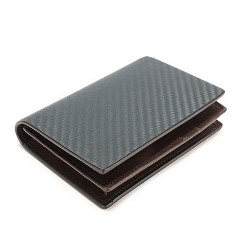 dunhill經典Chassis碳纖維皮革證件名片夾(深藍)257374-1