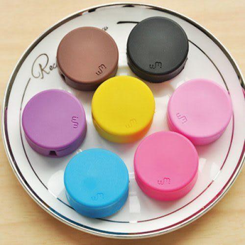 WM Winder 韓國必備! 繽紛糖果色 馬卡龍捲線器/集線器/繞線器 收納耳機線 手機螢幕擦拭布 兩用