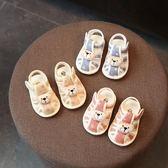 618好康鉅惠手工布鞋夏季0-1歲嬰兒軟底鞋子男女童涼鞋