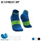 【Compressport瑞士】V3.0 超輕量9克跑襪 黑紅/白色/螢光藍 CS1-5132-3 原價750元