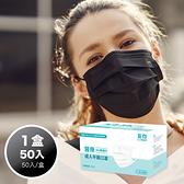 【康匠-友你】醫療級 平面口罩 成人用 50片/盒 (黑色) MD雙鋼印【卜公家族】