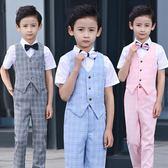 禮服 男童表演服裝夏兒童禮服套裝男夏季演出服igo 晶彩生活