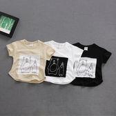 韓版寶寶半袖男童0-2歲夏季新生兒衣服