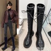 長靴 長筒靴女冬加絨2021年新款高筒靴馬丁瘦瘦靴中筒騎士靴長靴女過膝 嬡孕哺 新品