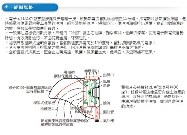 【歐雅系統家具廚具】豪山 HOSUN VDQ-9705SH 直吸式熱除油煙機