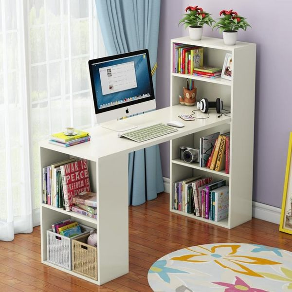 簡易書桌書架組合家用簡約經濟型學生書桌寫字桌學習桌台式電腦桌igo【極有家】