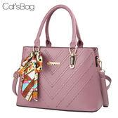 歐美時尚立體質感二用絲巾方包-Catsbag-0450501