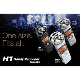 Zoom H1 手持 數位 錄音機 XY立體聲系統的電容式麥克風 台灣總代理 公司貨 保固18個月