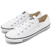 Converse Chuck Taylor All Star Dainty 白 黑 基本款 低筒 薄底 女鞋【PUMP306】 530057C