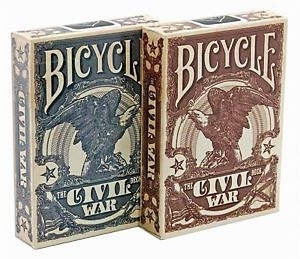 【USPCC 撲克】Bicycle civil war Playing Cards red/blue uspcc
