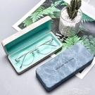 眼鏡盒眼鏡盒男便攜抗壓高級感ins日系女式輕便眼睛收納盒太陽墨鏡盒子 雲朵